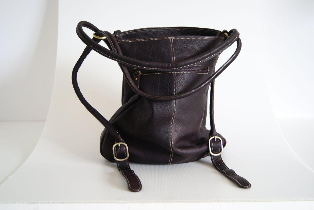 BUFALO TRJ-02 BROWN кожаная сумка-рюкзак-трансформер