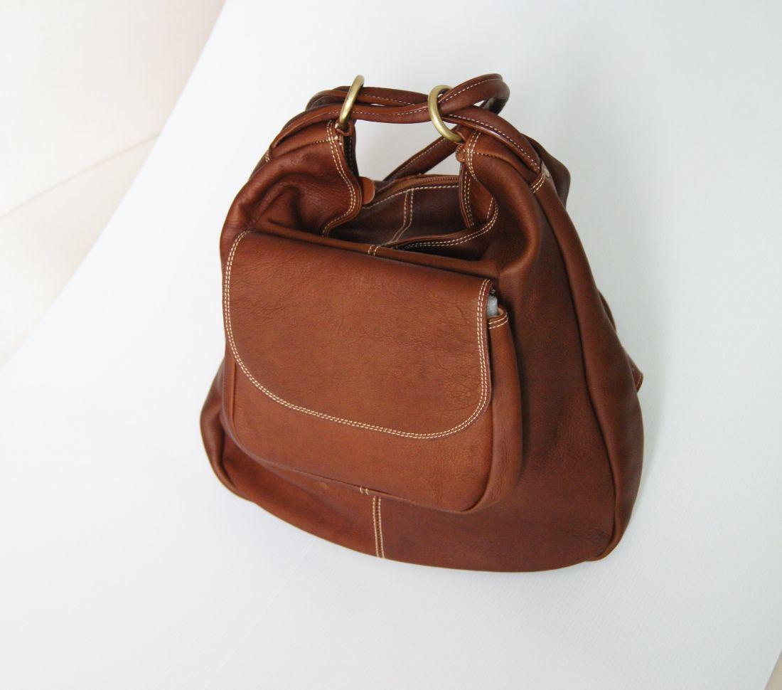 BUFALO TRJ-02 CAMEL кожаная сумка-рюкзак-трансформер